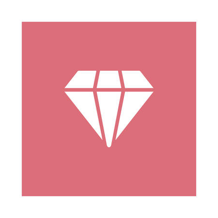A jewelry icon on pink background, vector illustration. Ilustrace