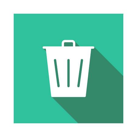 Dustbin in vector illustration