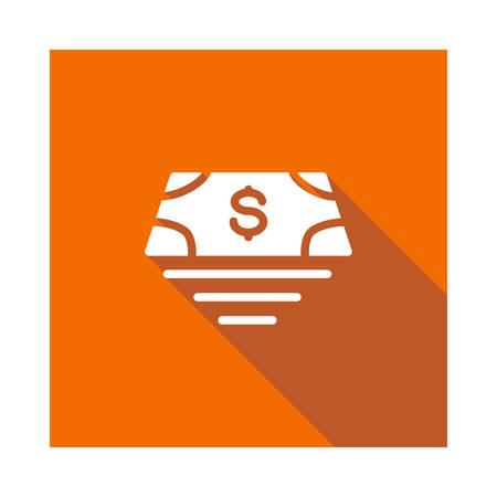 geld in vectorillustratie Stock Illustratie