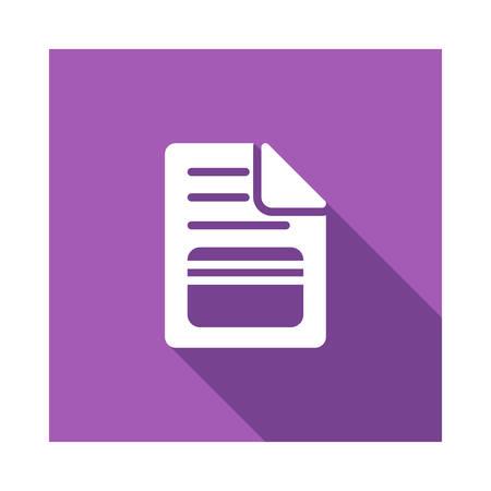 file in vector illustration