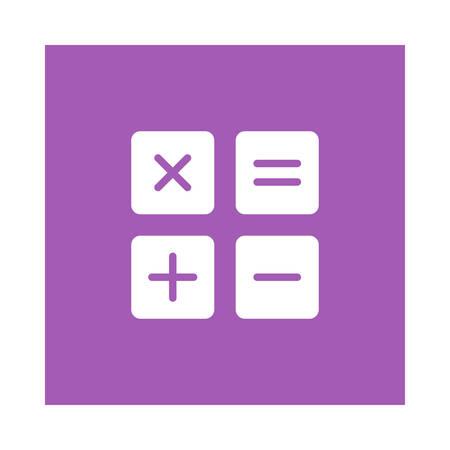 紫色の背景、ベクトルイラストレーション上の数学のアイコン。