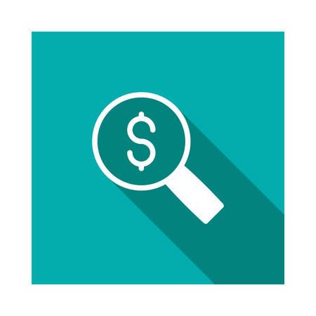 dollar in vector illustration