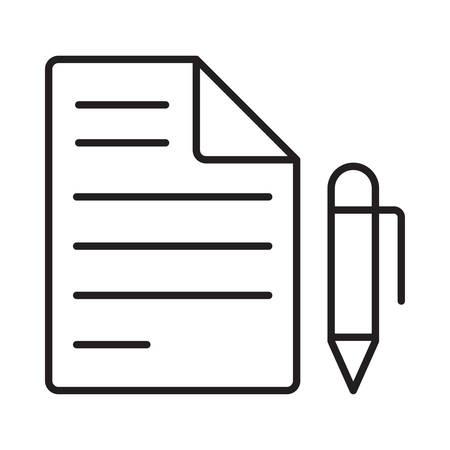pen  in vector illustration