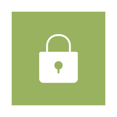A padlock icon on green background, vector illustration.