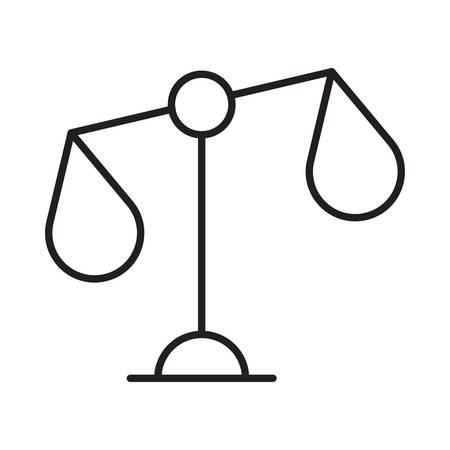 rechtvaardigheid in vectorillustratie