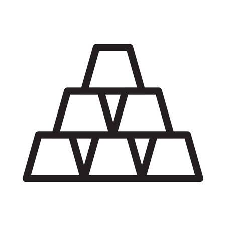 blocks in vector illustration Illustration