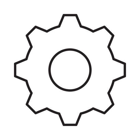gear in vector illustration Иллюстрация