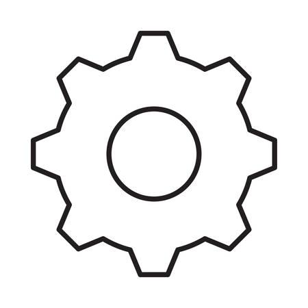 gear in vector illustration Illustration