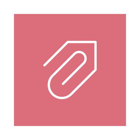 Paper clip icon. Ilustrace