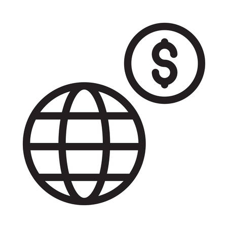 global in vector illustration Illustration