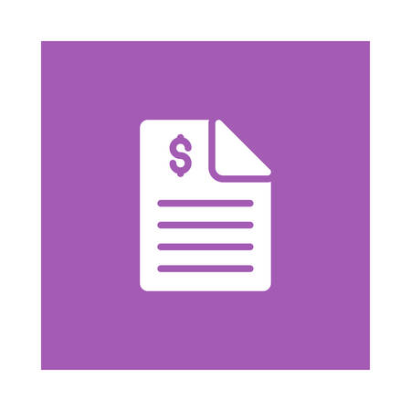 Paper with dollar sign icon.