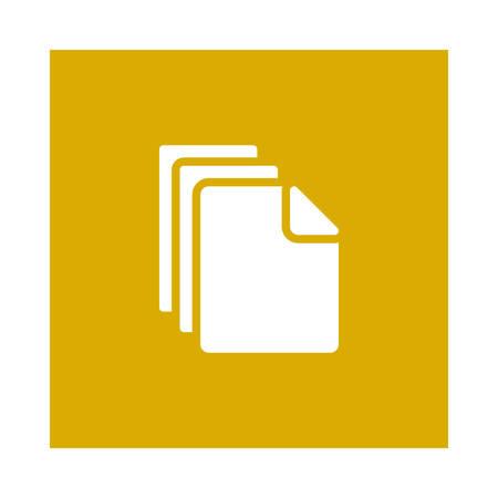 Files  icon. Ilustracja
