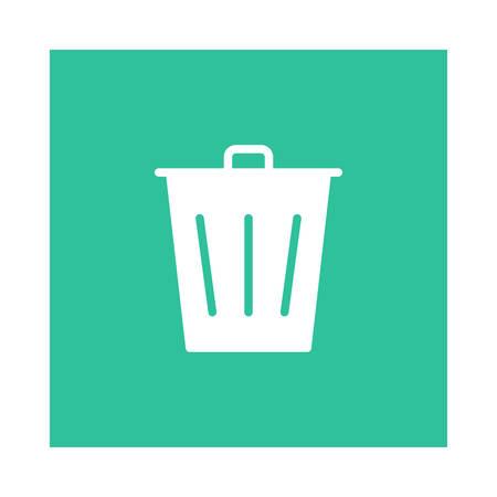 Trash bin icon. Иллюстрация