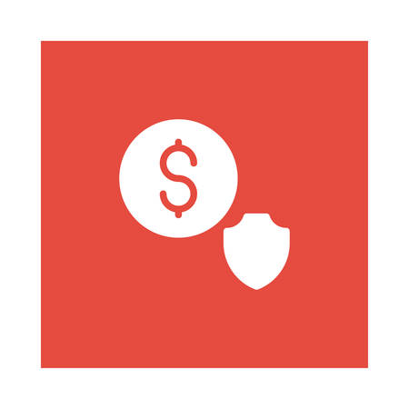 Shield and dollar sign icon.