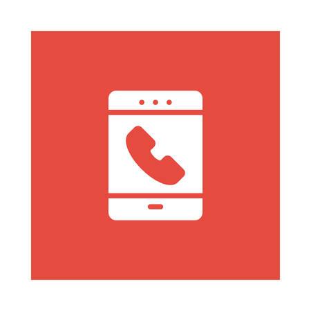 Calling mobile phone icon. Illustration