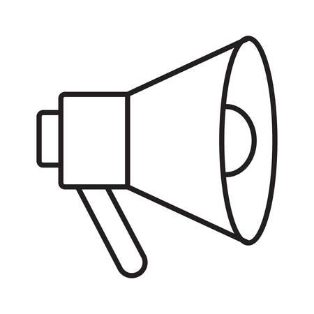 megaphone in vector illustration Illustration