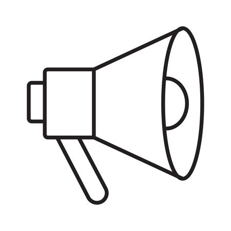 megaphone in vector illustration Çizim