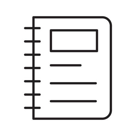 notebook in vector illustration