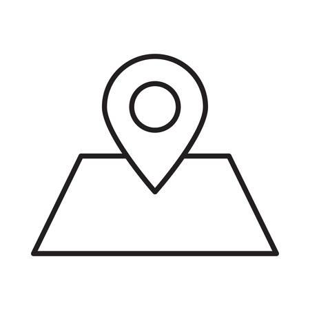 map in vector illustration Illustration