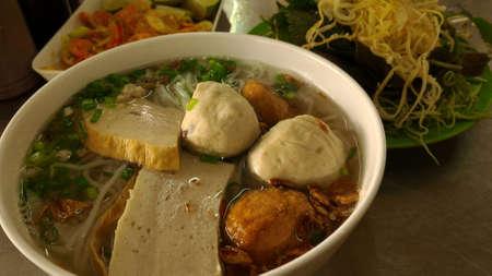 noodle soup: Vietnamese Noodle Soup Stock Photo