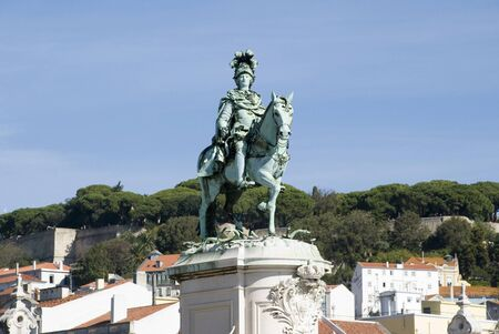 King Jose statue, Lisbon, Portugal Stock Photo