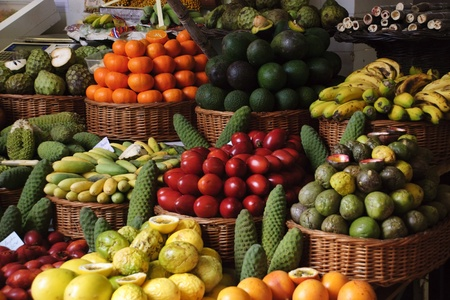 Fruit market in Funchal, Madeira Stock Photo - 12805027
