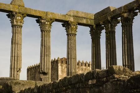 Ruins of roman temple, Evora, Portugal