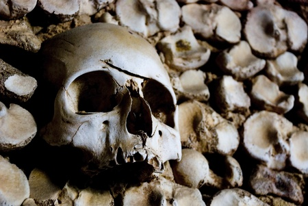 Skull, Bone chapel, Faro, Portugal Stock Photo