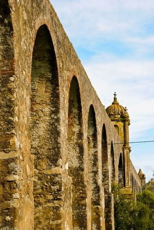Arches of Aqueduct in Evora, Portugal Stock Photo