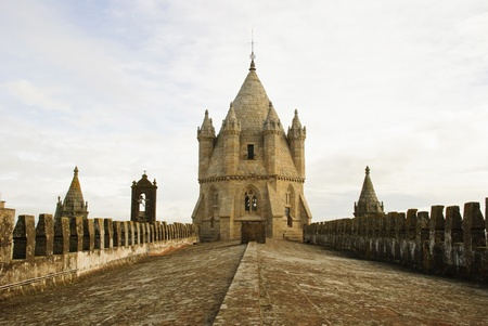 symetry: Cathedral in Evora, Portugal