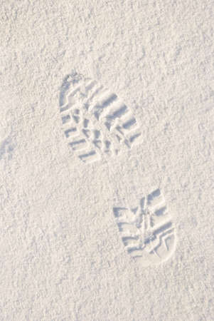 Footprint in a Snow photo