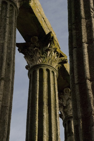 Old roman pillar, detail photo