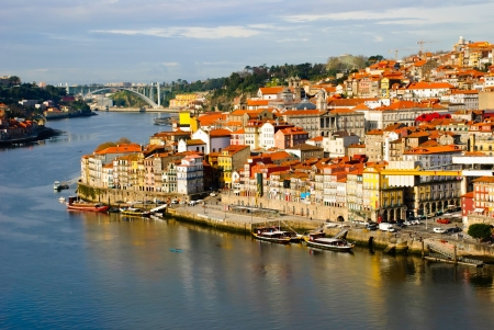 Riberia, old part of Porto, Portugal Stock Photo