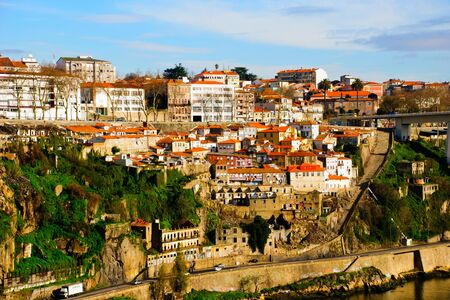 Porto at the Douro river bank Stock Photo