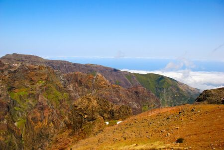 Mountains around Pico Arieiro, Madeira island, Portugal Stock Photo - 13468309