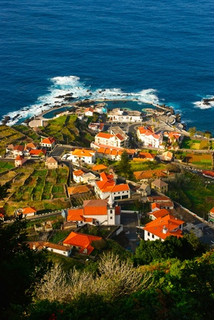Porto Moniz, village with natural swimming pool, Madeira island, Portugal