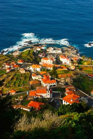 porto: Porto Moniz, village with natural swimming pool, Madeira island, Portugal