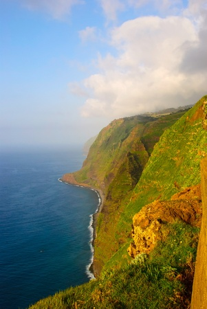 Cliffs, Landscape of Madeira island, Portugal