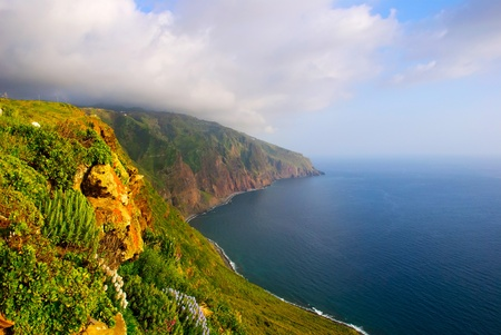 Cliffs, Landscape of Madeira island, Portugal