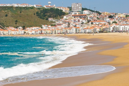 Nazare, Portugal, traditional fishing and surfing village