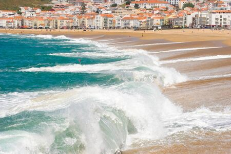Nazare, Portugal, traditional fishing and surfing village photo