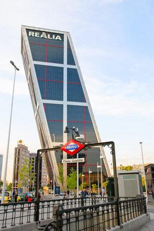 Torres Kio, Kio Towers, Madrid, Spain Editorial
