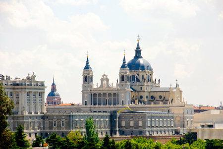 View to Palacio Real, Royal palace, Madrid, Spain