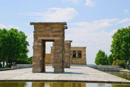Debod egyptian temple, Madrid, Spain Stock Photo - 13894044