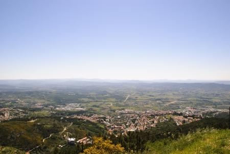 View to Covilha, Serra da Estrela natural park, Portugal photo