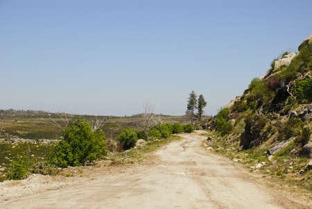 Road in Serra da Estrela natural park, Portugal photo