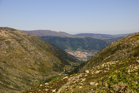 View to Manteigas, Serra da Estrela natural park, Portugal Stock Photo