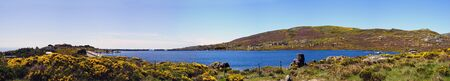 Panorama of Dam, Serra da Estrela natural park, Portugal photo