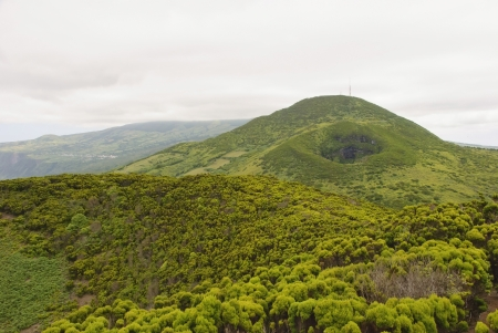 Volcanic landscape of Faial island, Azores