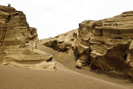 Eroded volcanic soil photo